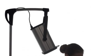 Zabieg z użyciem lampy sollux Lumina