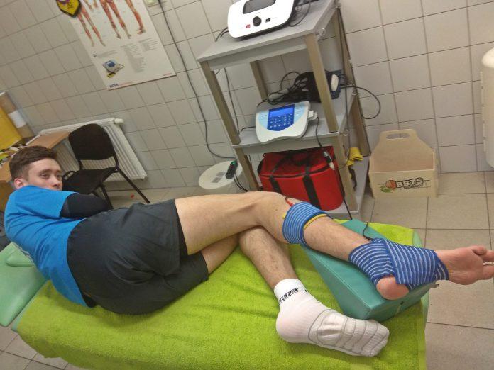 Uraz stawu skokowego - zabieg elektroterapii