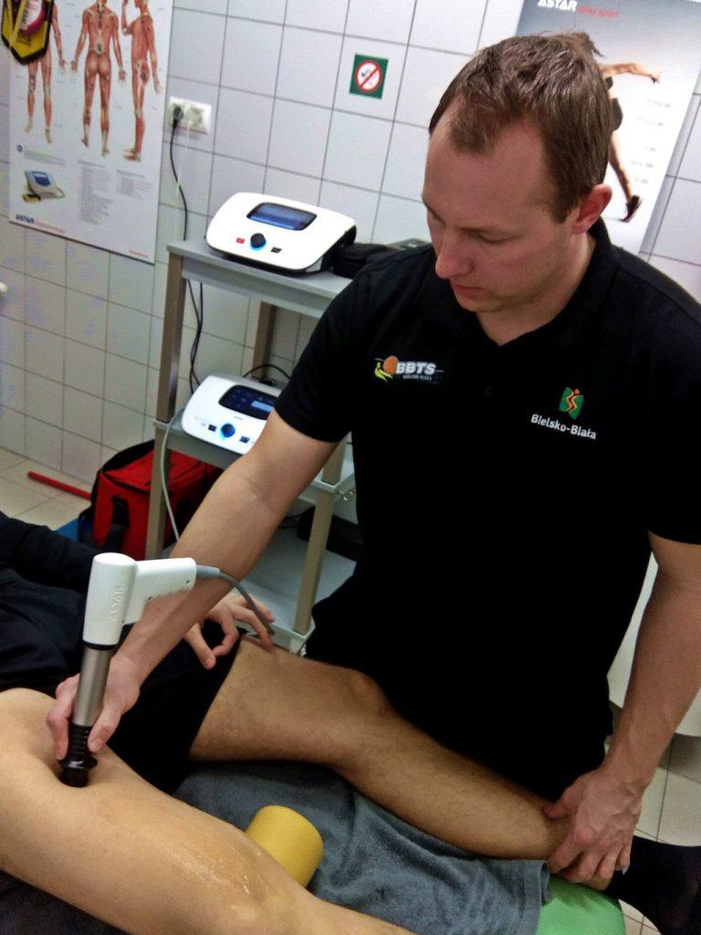 Fala udrzeniowa - naderwanie mięśnia czworogłowego uda - Impactis M